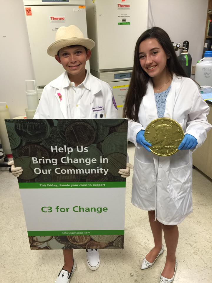 Coins Curing Cancer Helps Donate to NSU's Cancer Research Department